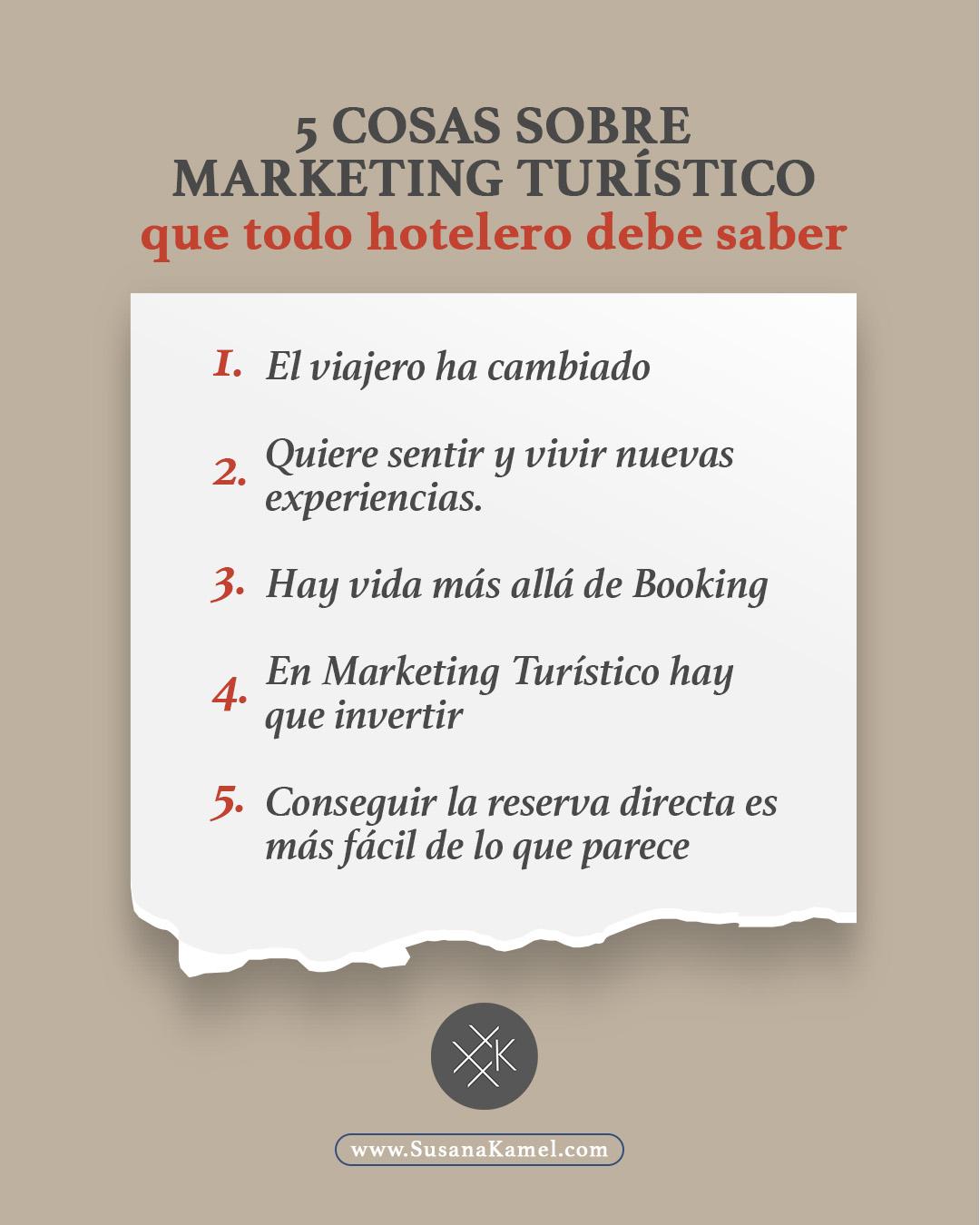 5 cosas sobre Marketing Turístico