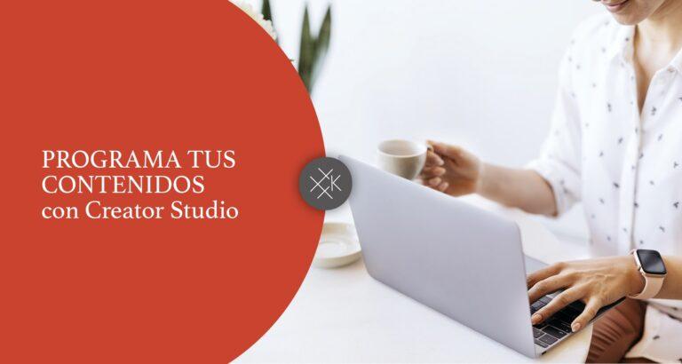 Creator Studio contenidos